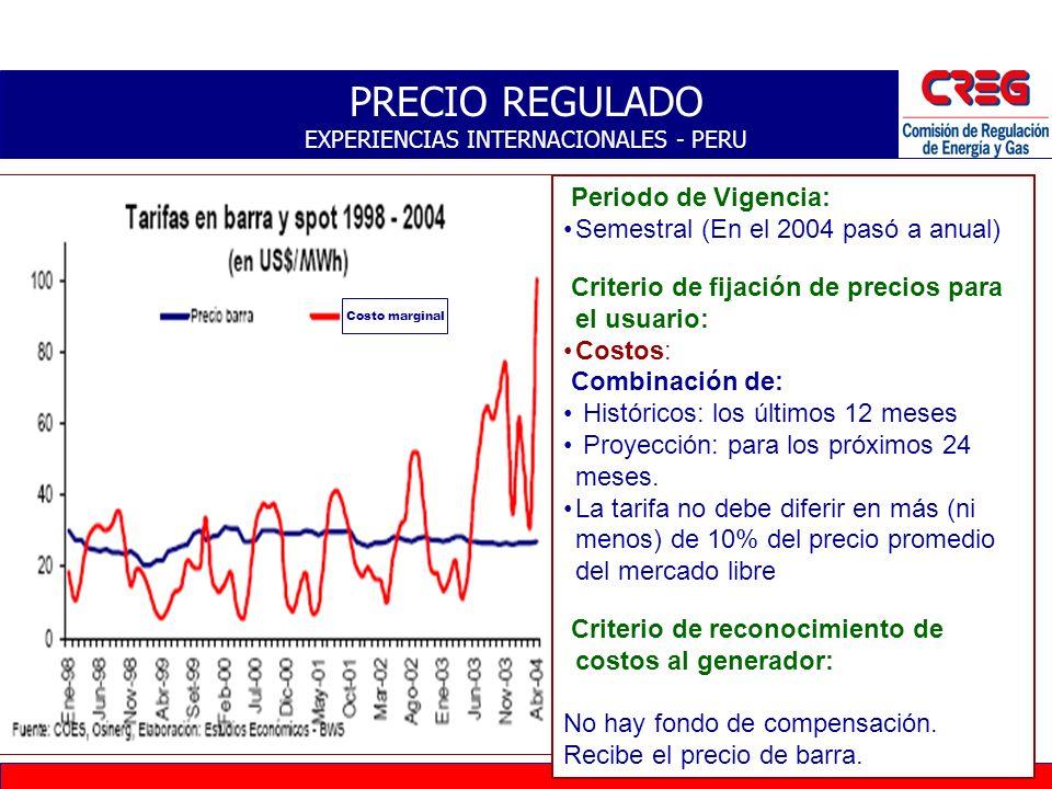 PRECIO REGULADO EXPERIENCIAS INTERNACIONALES - PERU