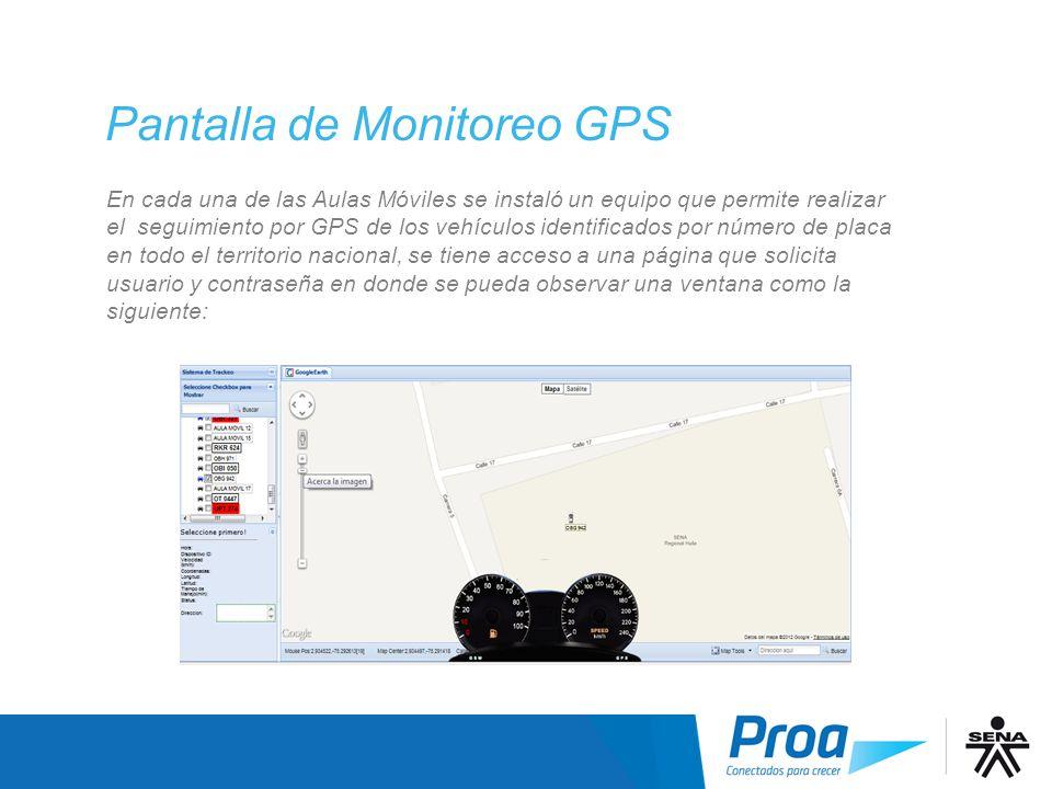 Pantalla Monitoreo GPS I