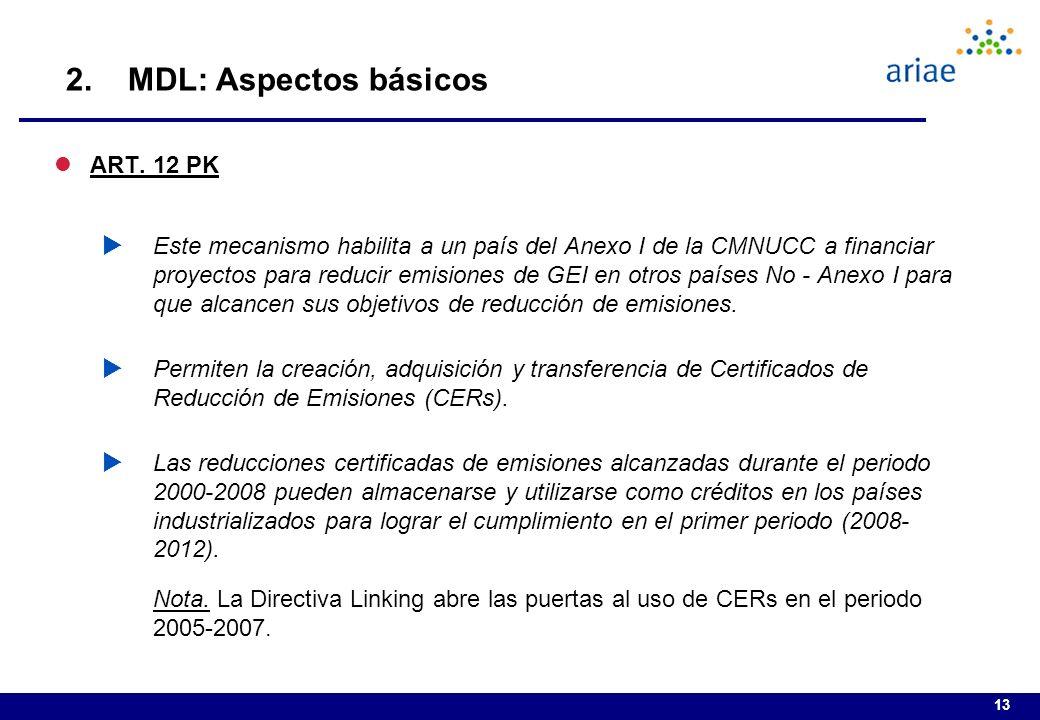 2. MDL: Aspectos básicos ART. 12 PK