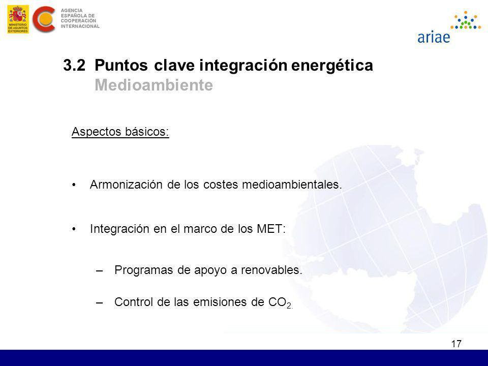 3.2 Puntos clave integración energética Medioambiente