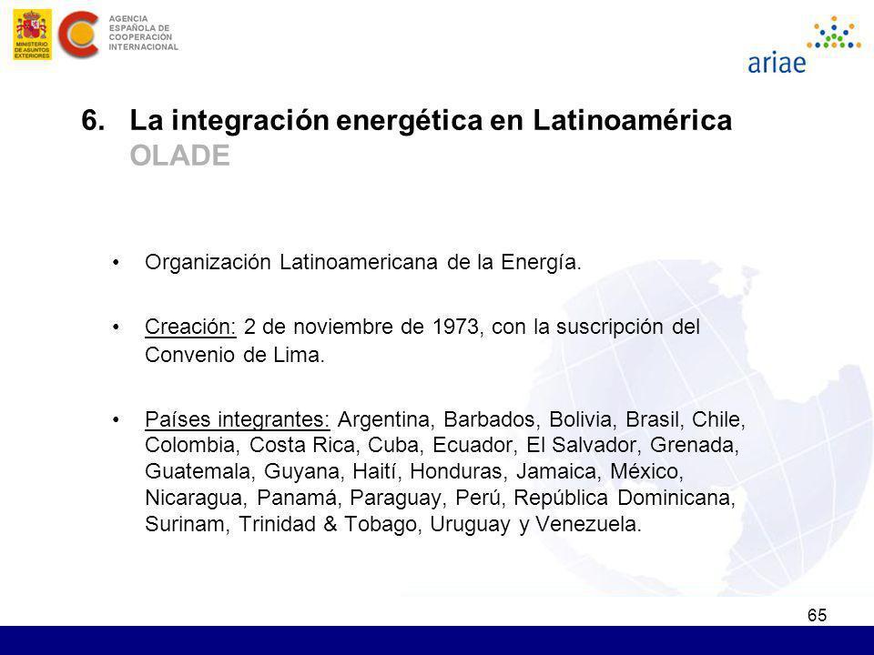 6. La integración energética en Latinoamérica OLADE