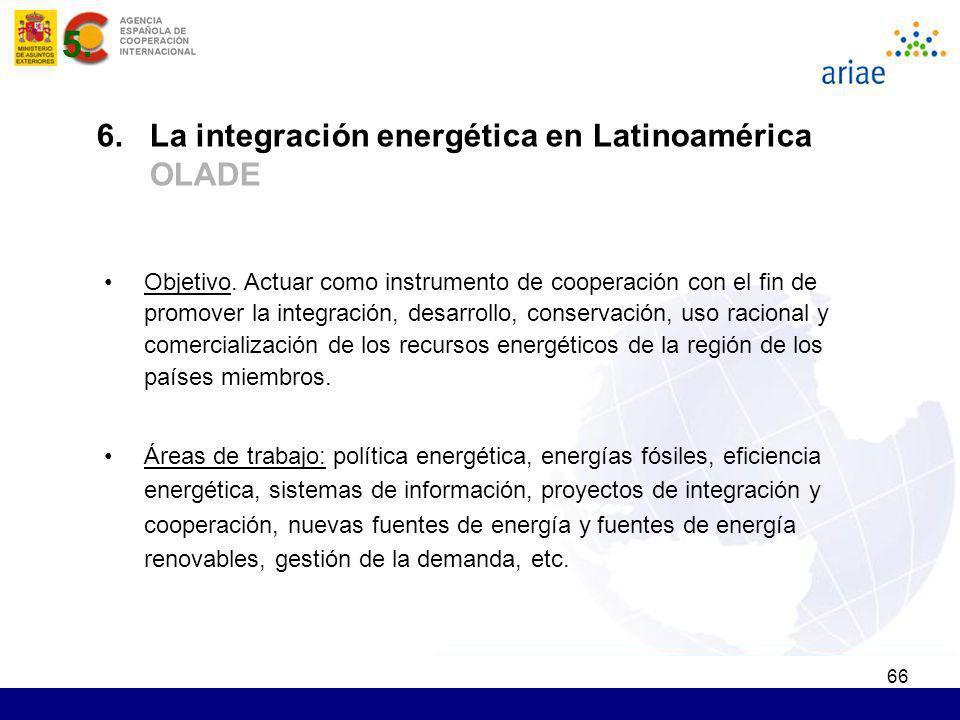 5. 6. La integración energética en Latinoamérica OLADE