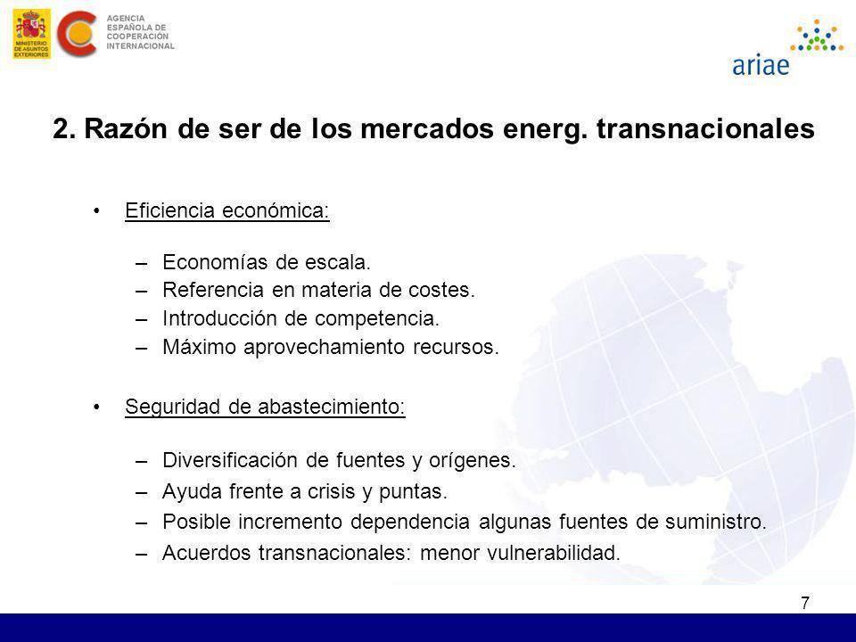 2. Razón de ser de los mercados energ. transnacionales