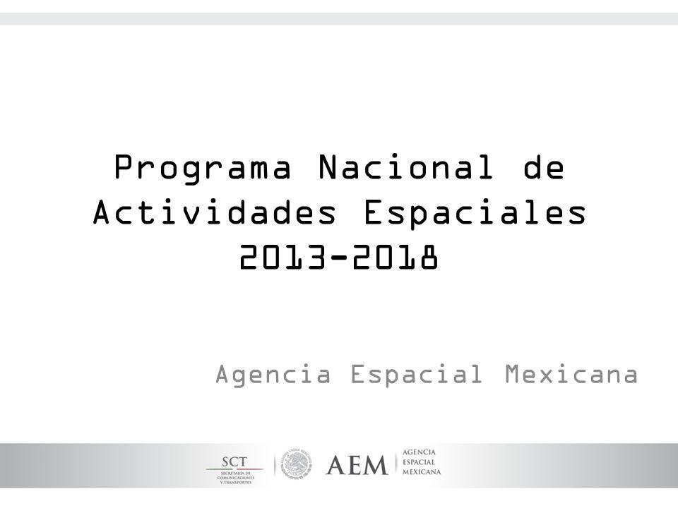 Programa Nacional de Actividades Espaciales 2013-2018