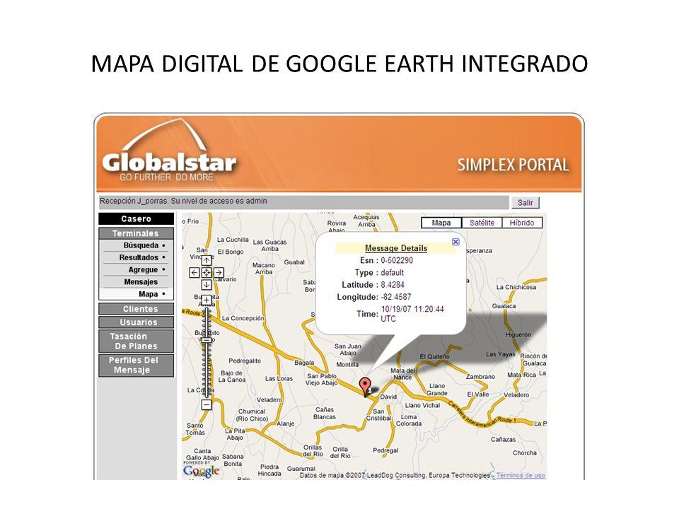 MAPA DIGITAL DE GOOGLE EARTH INTEGRADO