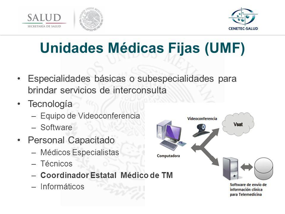 Unidades Médicas Fijas (UMF)
