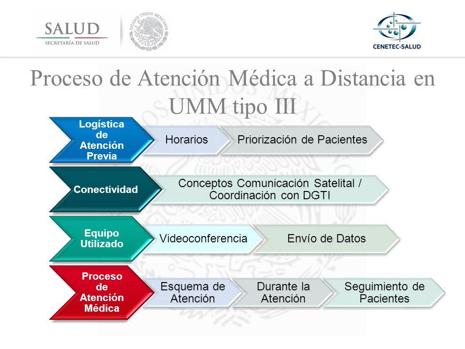Proceso de Atención Médica a Distancia en UMM tipo III