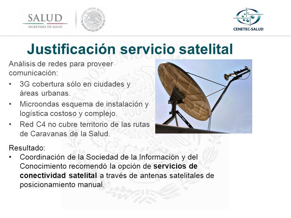 Justificación servicio satelital