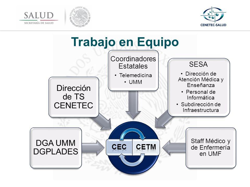 Trabajo en Equipo Dirección de TS CENETEC DGA UMM DGPLADES