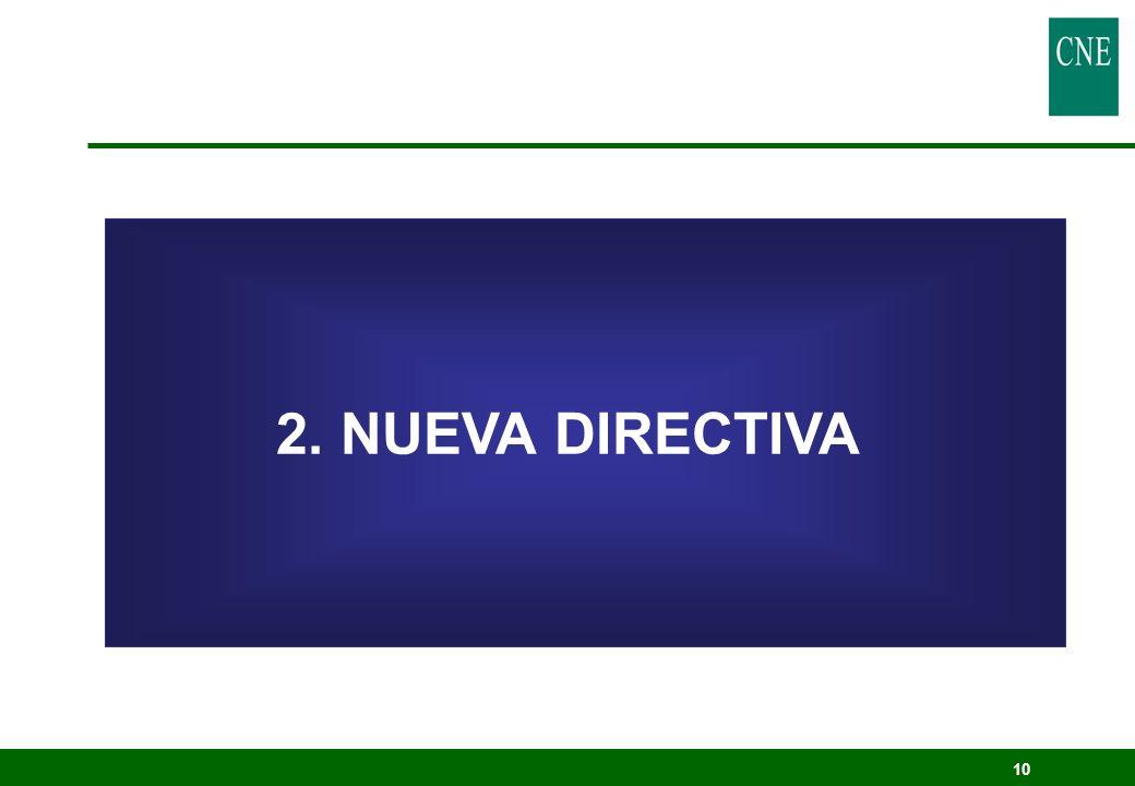 2. NUEVA DIRECTIVA