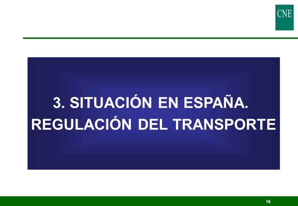 REGULACIÓN DEL TRANSPORTE