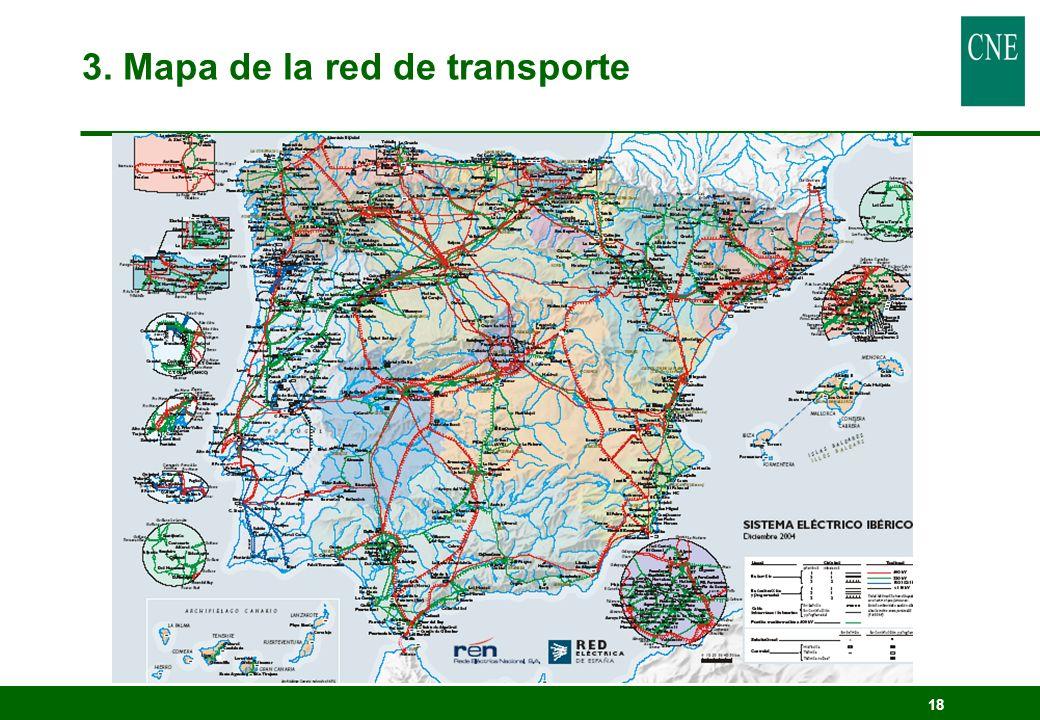 3. Mapa de la red de transporte
