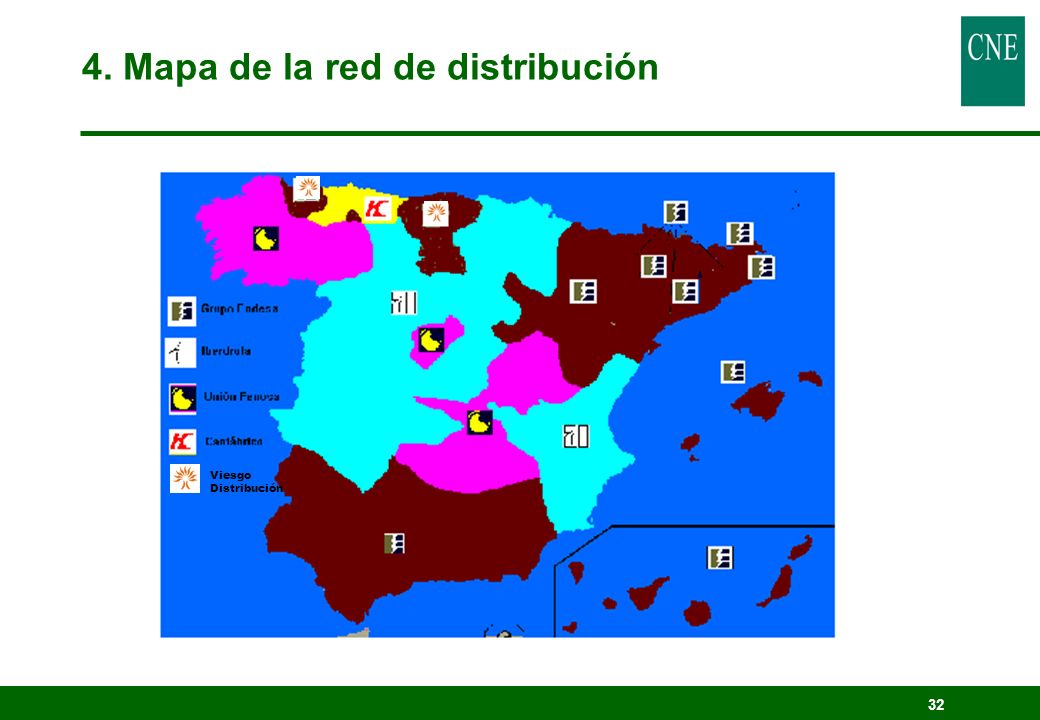 4. Mapa de la red de distribución