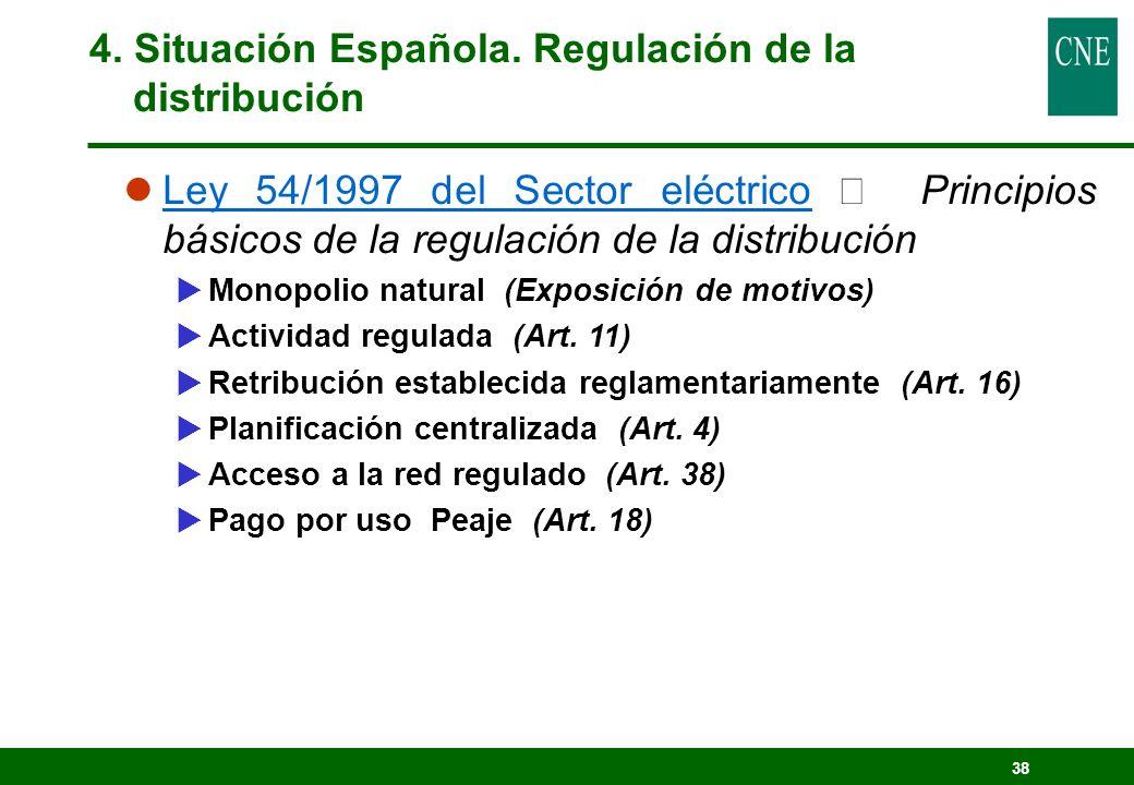 4. Situación Española. Regulación de la distribución