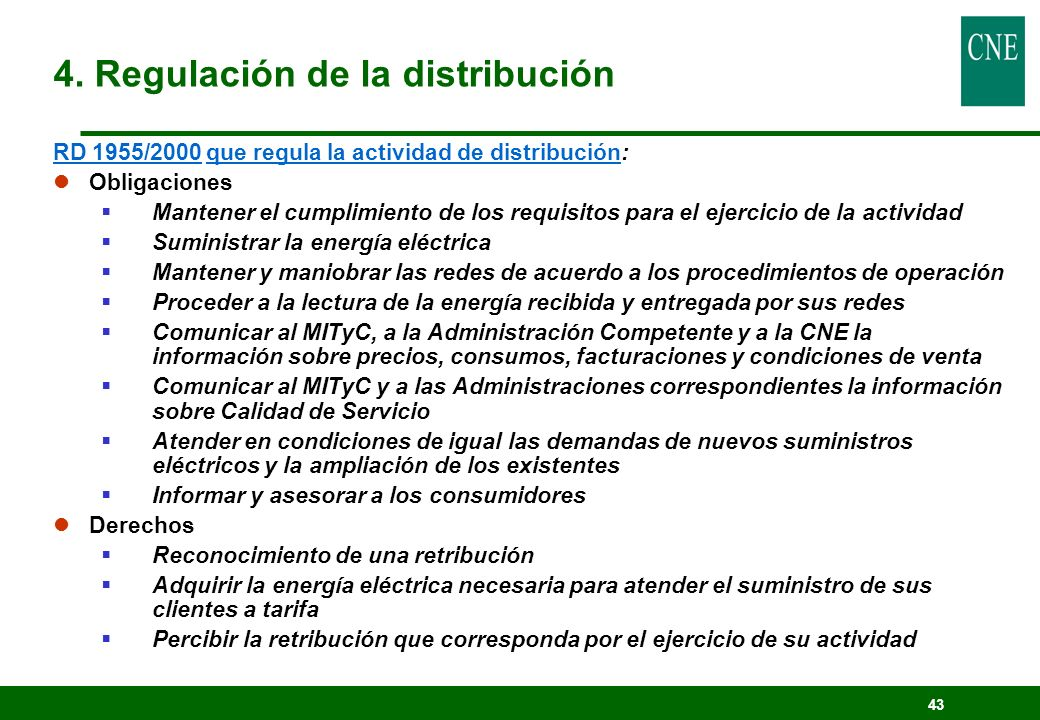 4. Regulación de la distribución