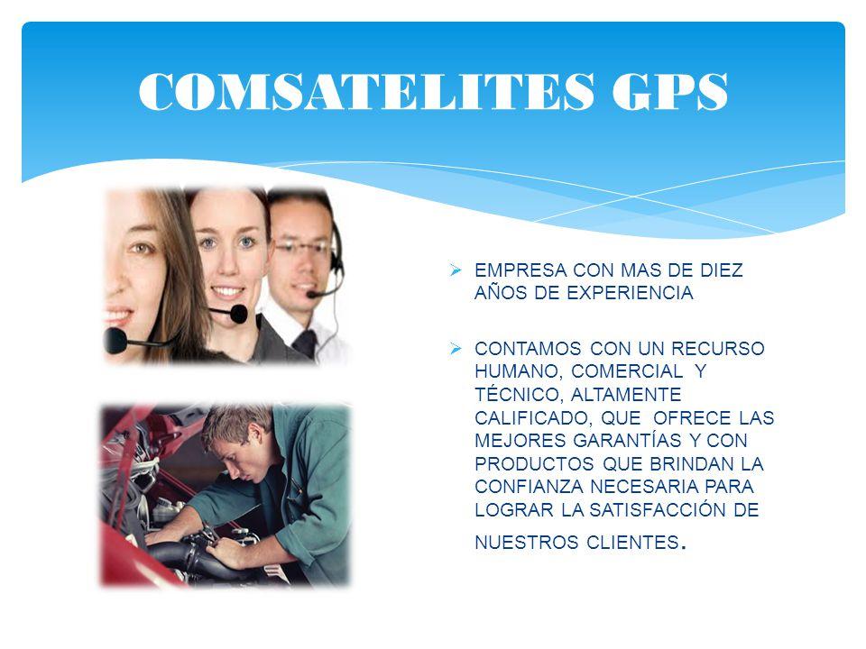 COMSATELITES GPS Empresa con mas de DIEZ años de experiencia