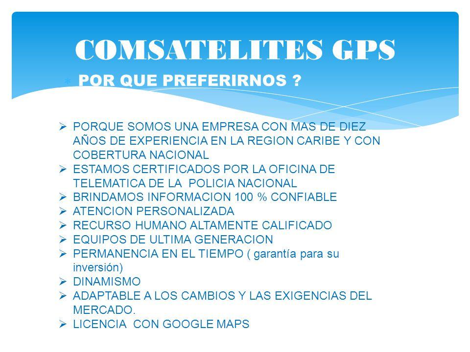 COMSATELITES GPS POR QUE PREFERIRNOS