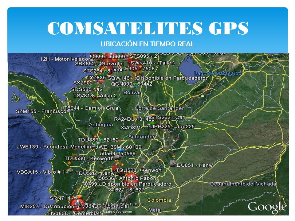 COMSATELITES GPS UBICACIÓN EN TIEMPO REAL
