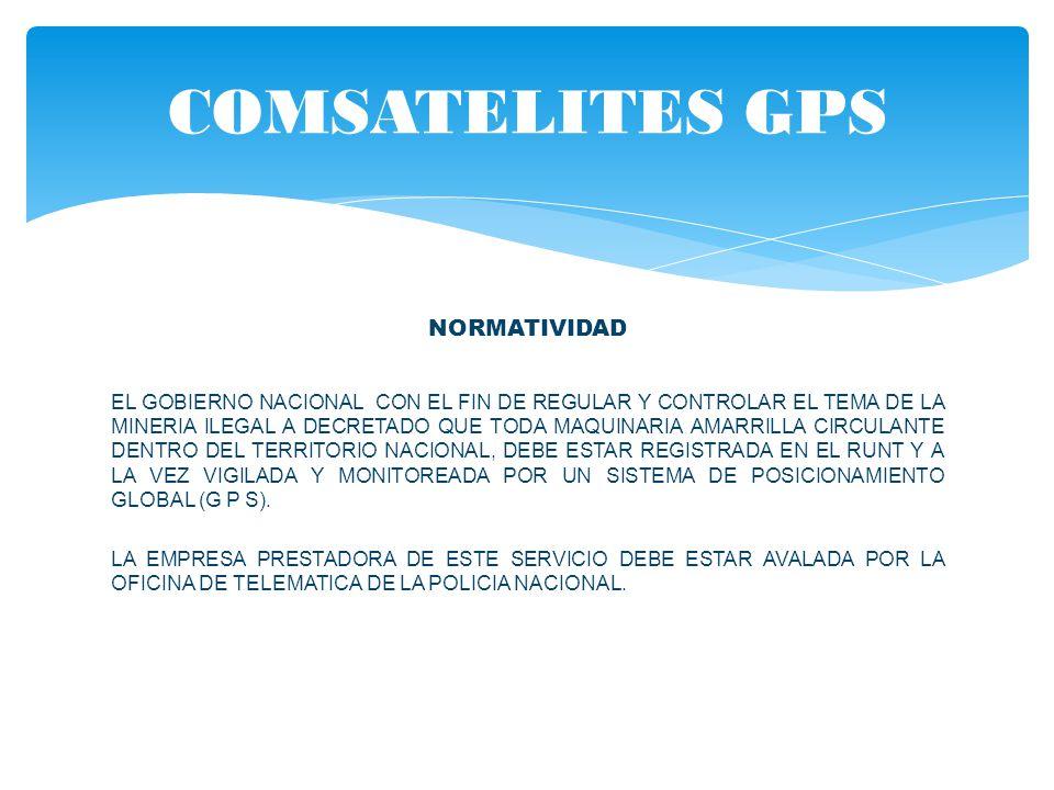 COMSATELITES GPS NORMATIVIDAD