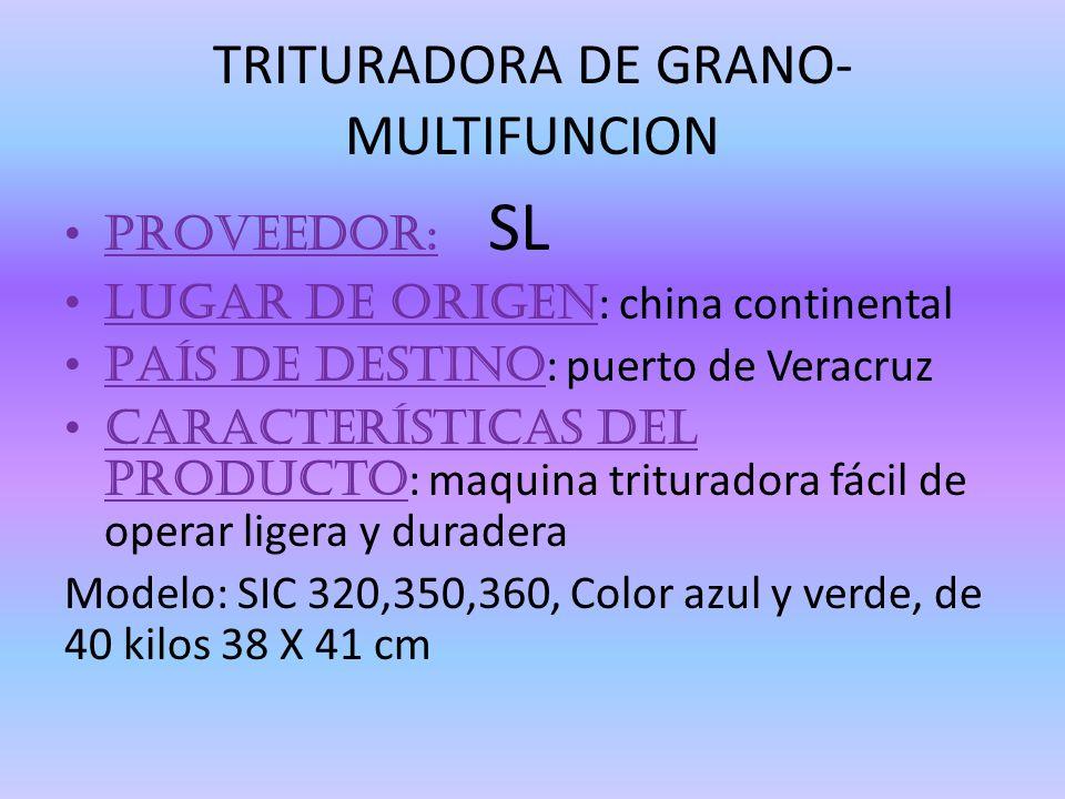 TRITURADORA DE GRANO-MULTIFUNCION