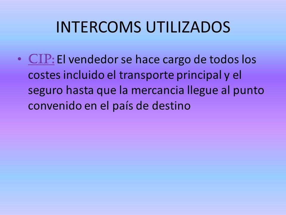 INTERCOMS UTILIZADOS