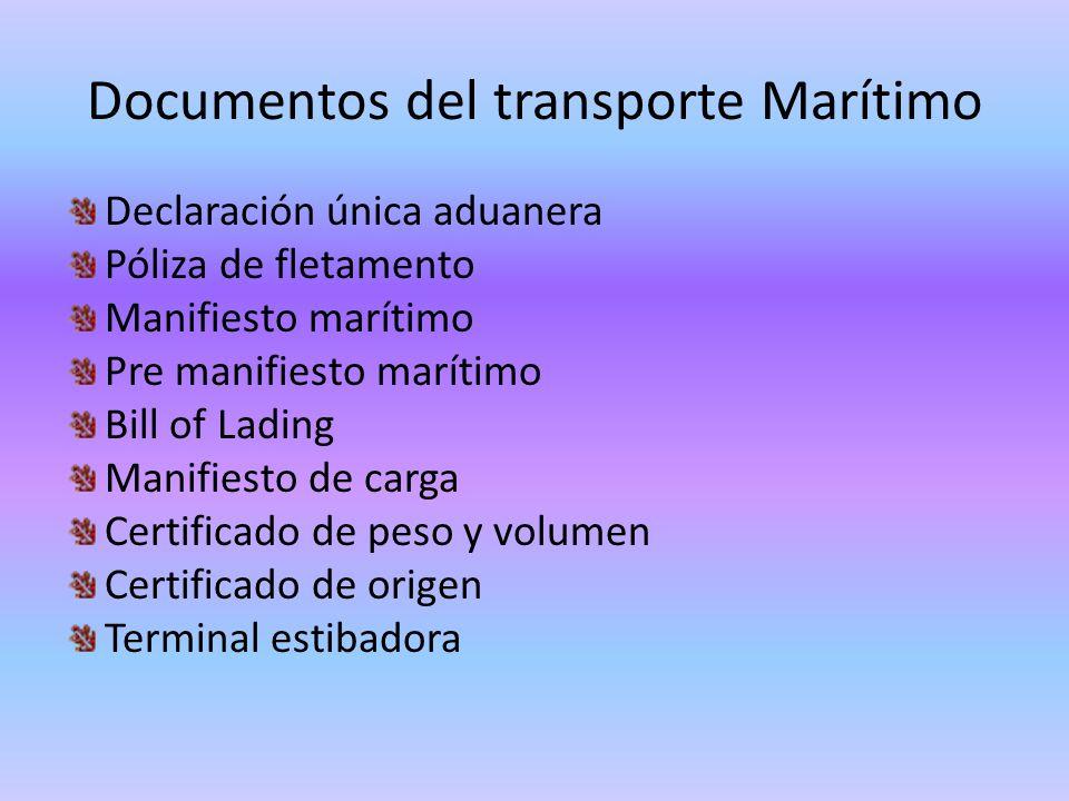 Documentos del transporte Marítimo
