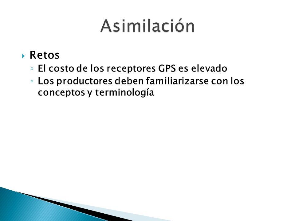 Asimilación Retos El costo de los receptores GPS es elevado