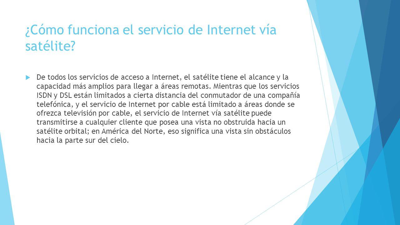 ¿Cómo funciona el servicio de Internet vía satélite