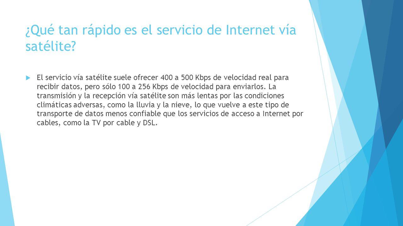 ¿Qué tan rápido es el servicio de Internet vía satélite