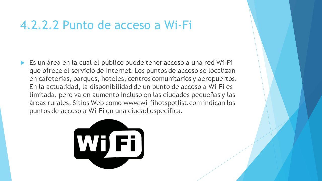 4.2.2.2 Punto de acceso a Wi-Fi