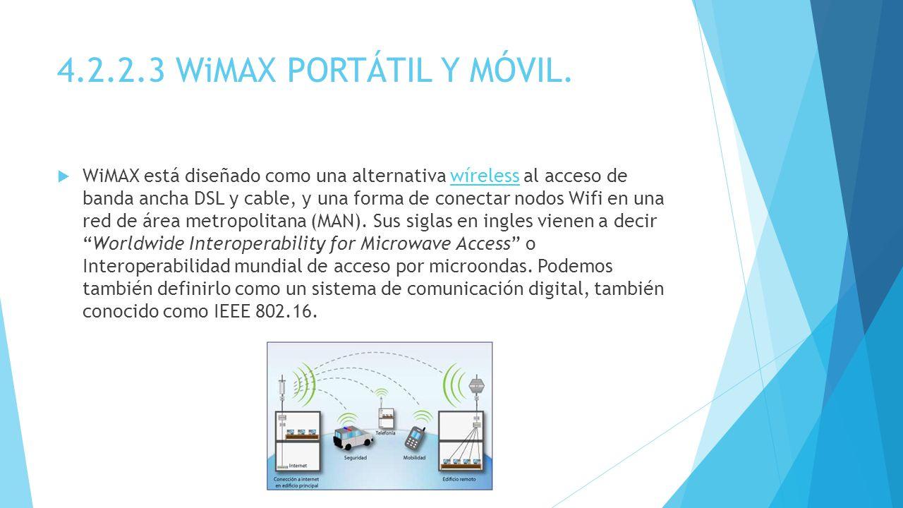 4.2.2.3 WiMAX PORTÁTIL Y MÓVIL.