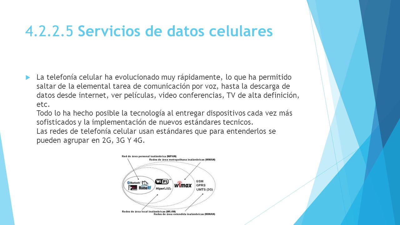 4.2.2.5 Servicios de datos celulares