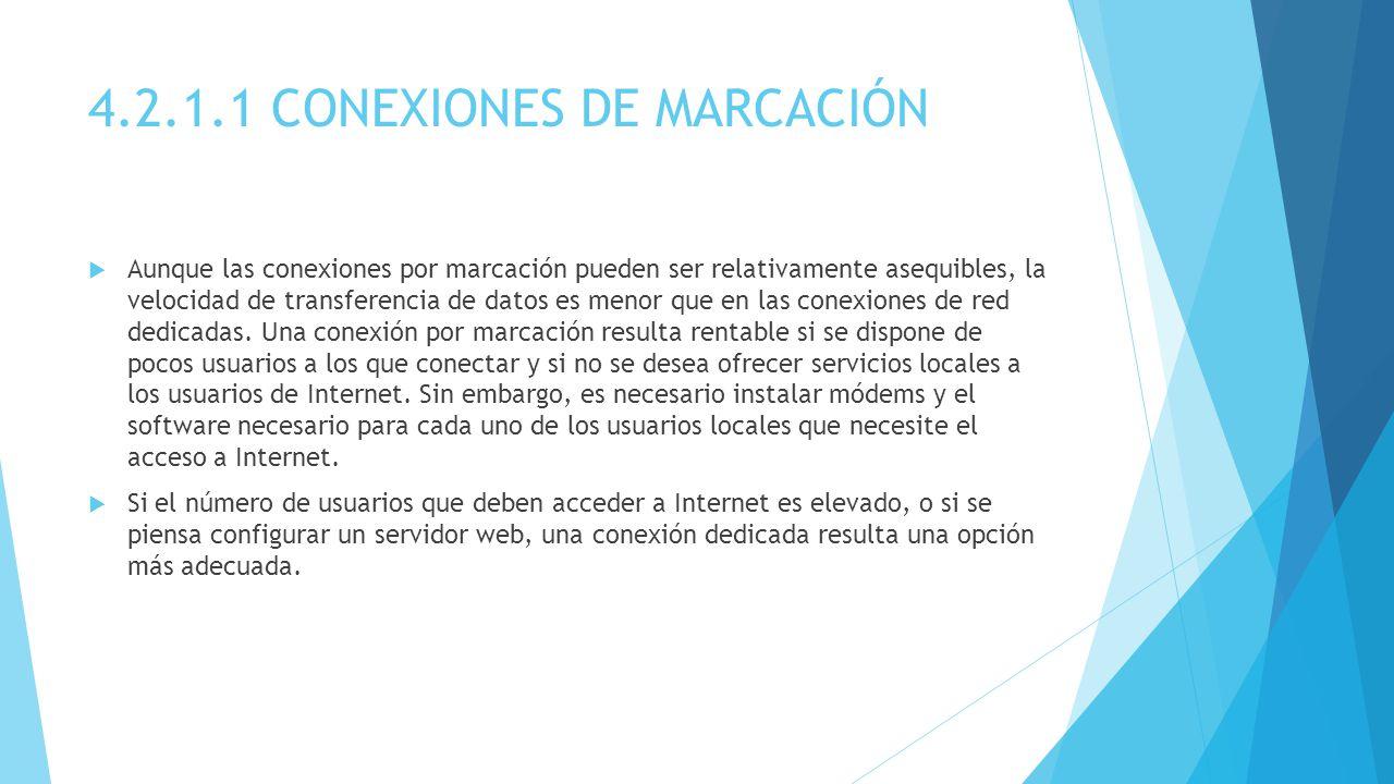 4.2.1.1 CONEXIONES DE MARCACIÓN