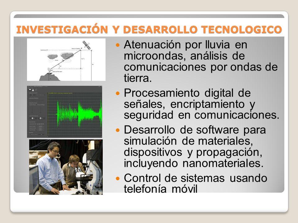 INVESTIGACIÓN Y DESARROLLO TECNOLOGICO