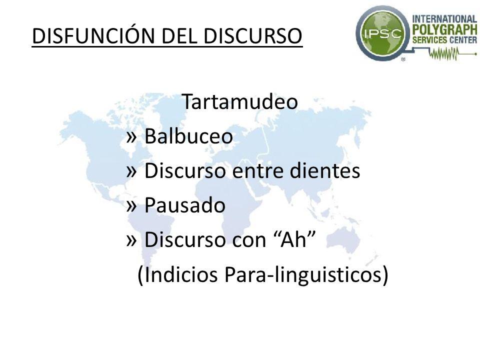 DISFUNCIÓN DEL DISCURSO