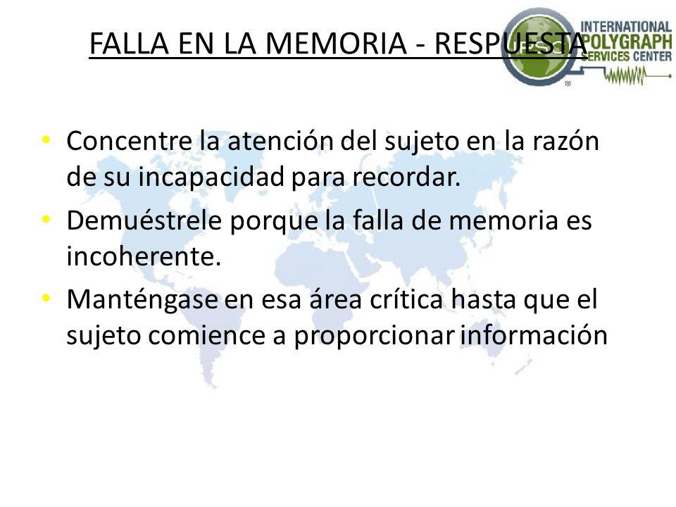 FALLA EN LA MEMORIA - RESPUESTA