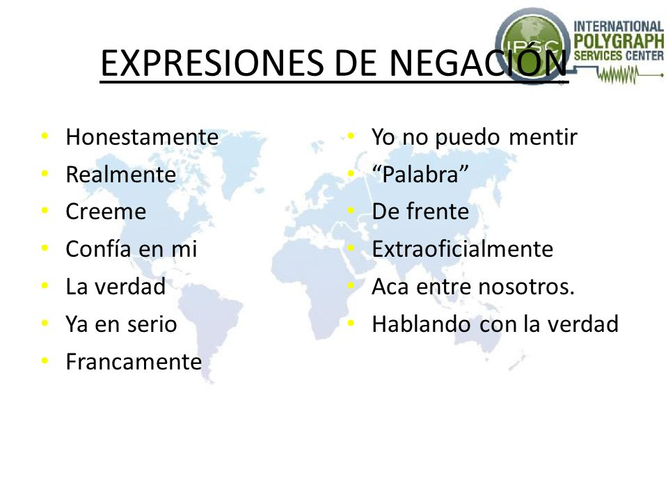 EXPRESIONES DE NEGACIÓN