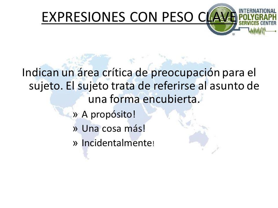 EXPRESIONES CON PESO CLAVE