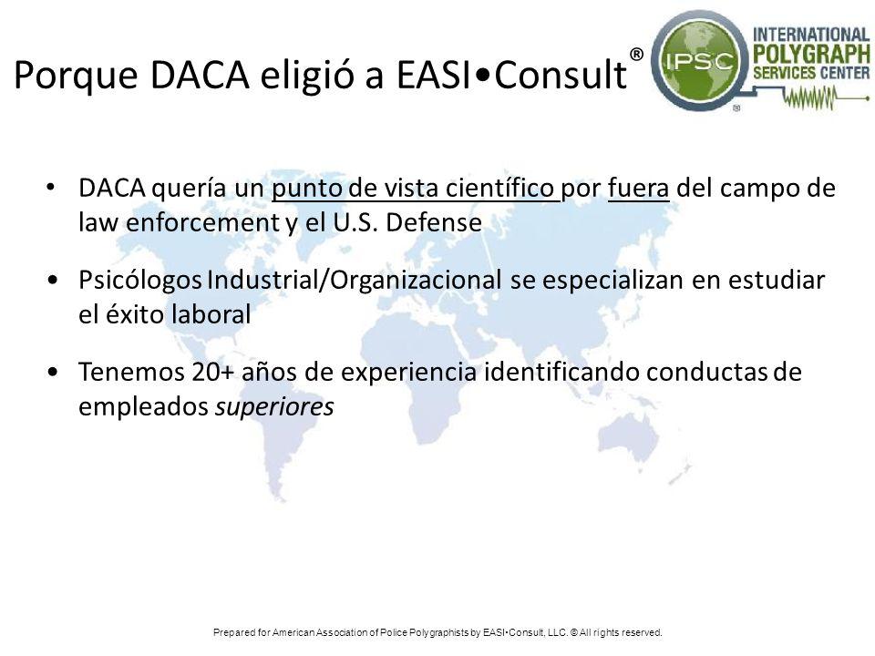 Porque DACA eligió a EASI•Consult®