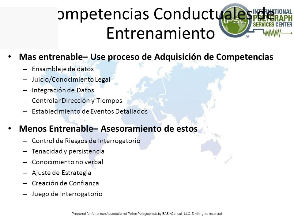 Competencias Conductuales de Entrenamiento