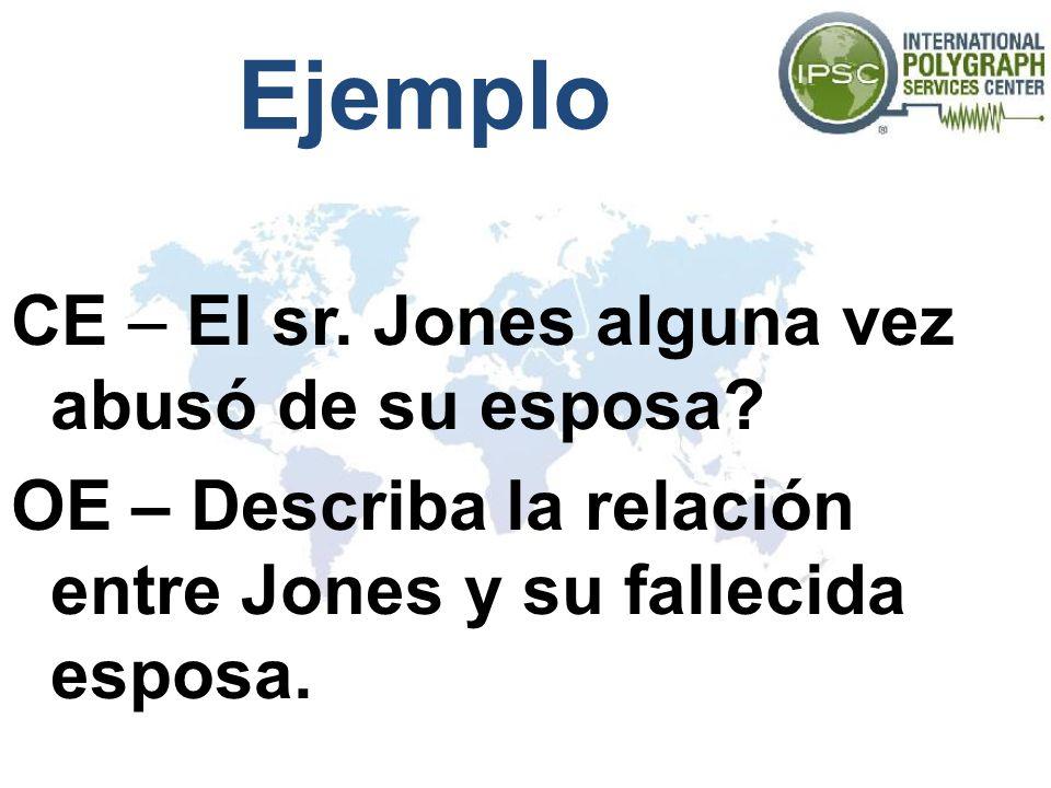 Ejemplo CE – El sr. Jones alguna vez abusó de su esposa