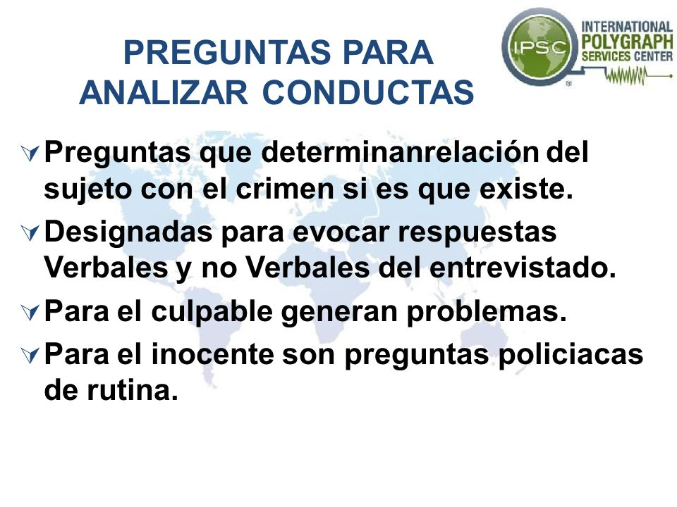 PREGUNTAS PARA ANALIZAR CONDUCTAS