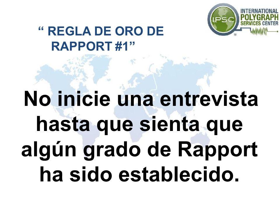 REGLA DE ORO DE RAPPORT #1