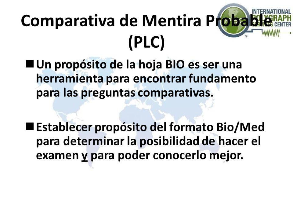 Comparativa de Mentira Probable (PLC)