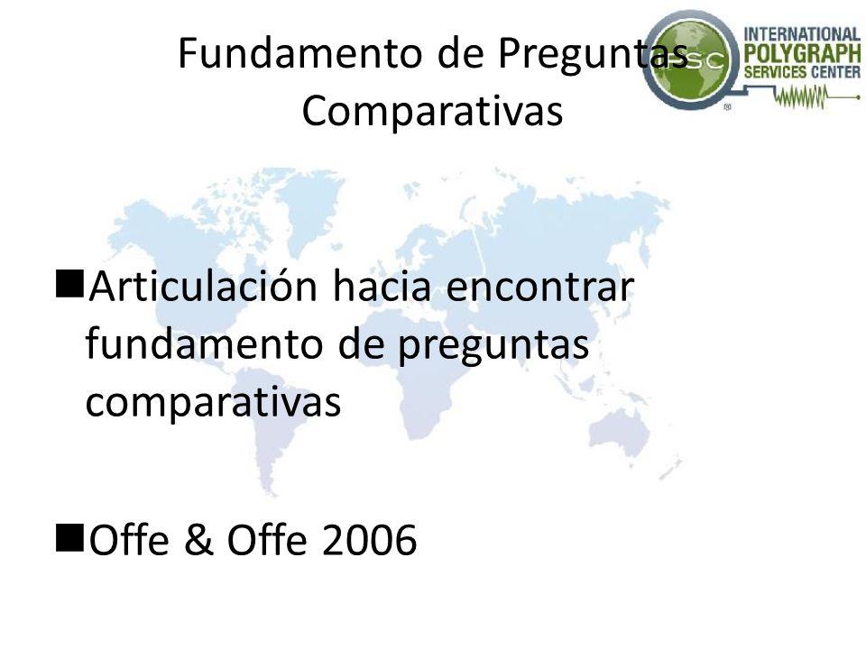 Fundamento de Preguntas Comparativas