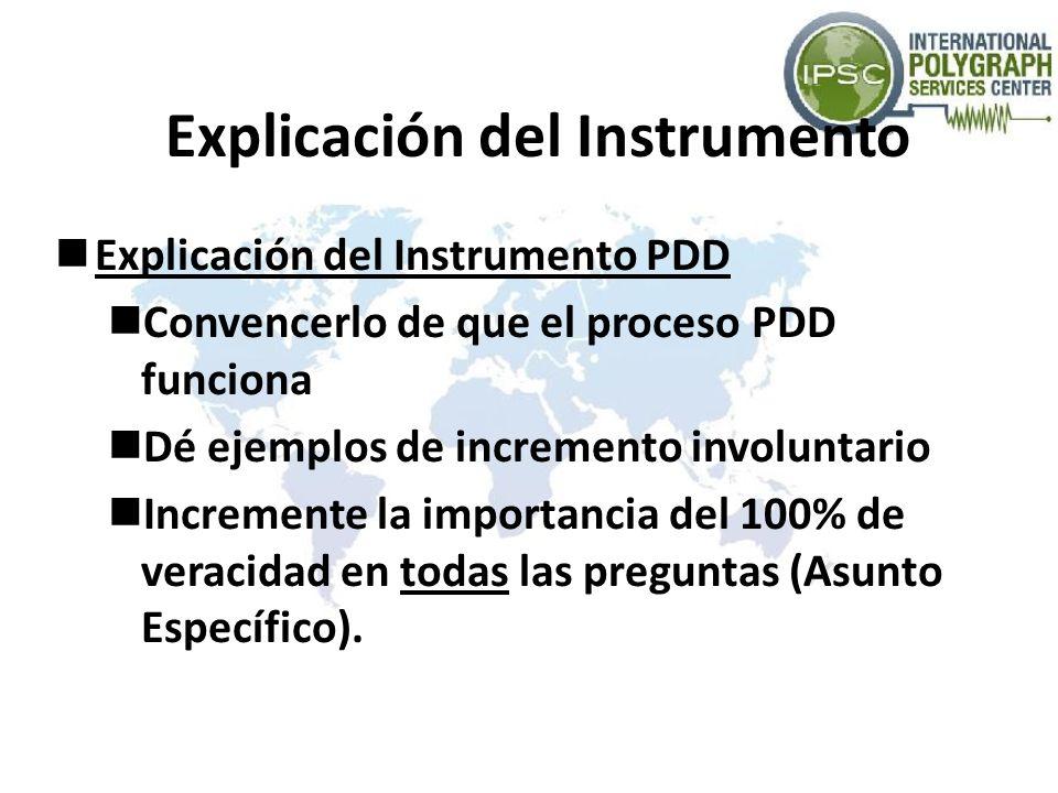 Explicación del Instrumento