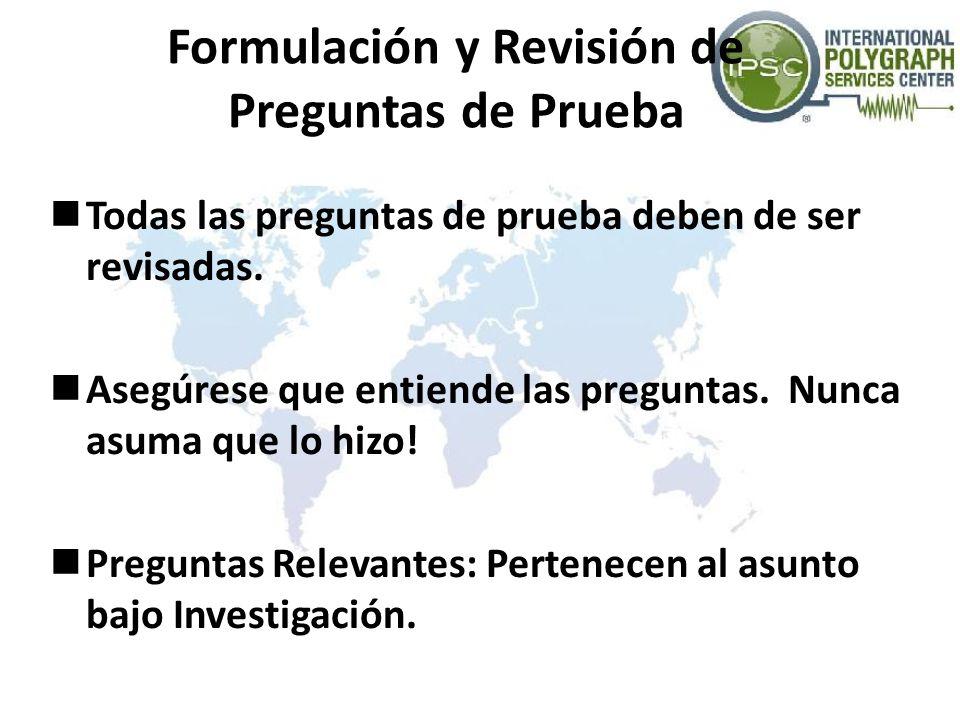 Formulación y Revisión de Preguntas de Prueba