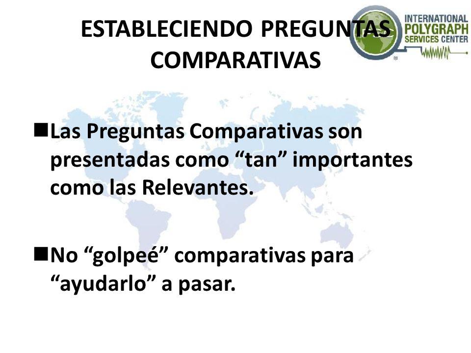 ESTABLECIENDO PREGUNTAS COMPARATIVAS