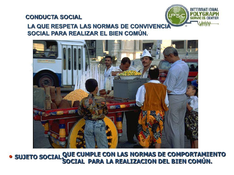 SUJETO SOCIAL.- CONDUCTA SOCIAL