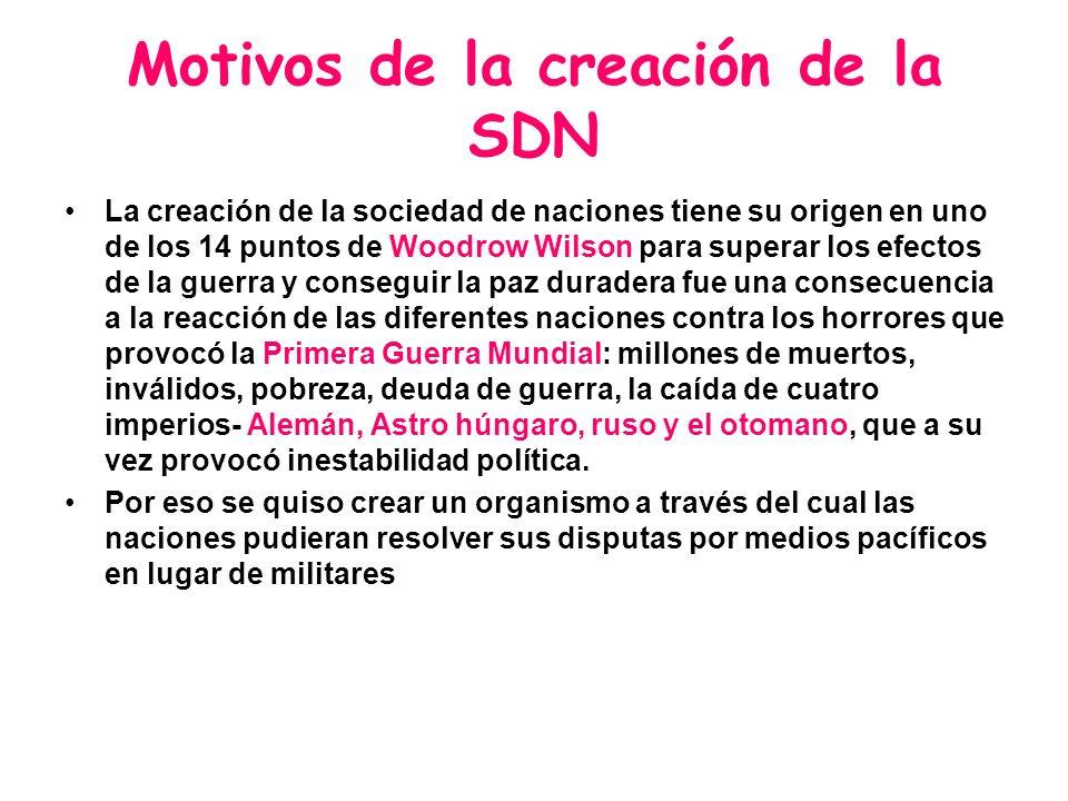 Motivos de la creación de la SDN
